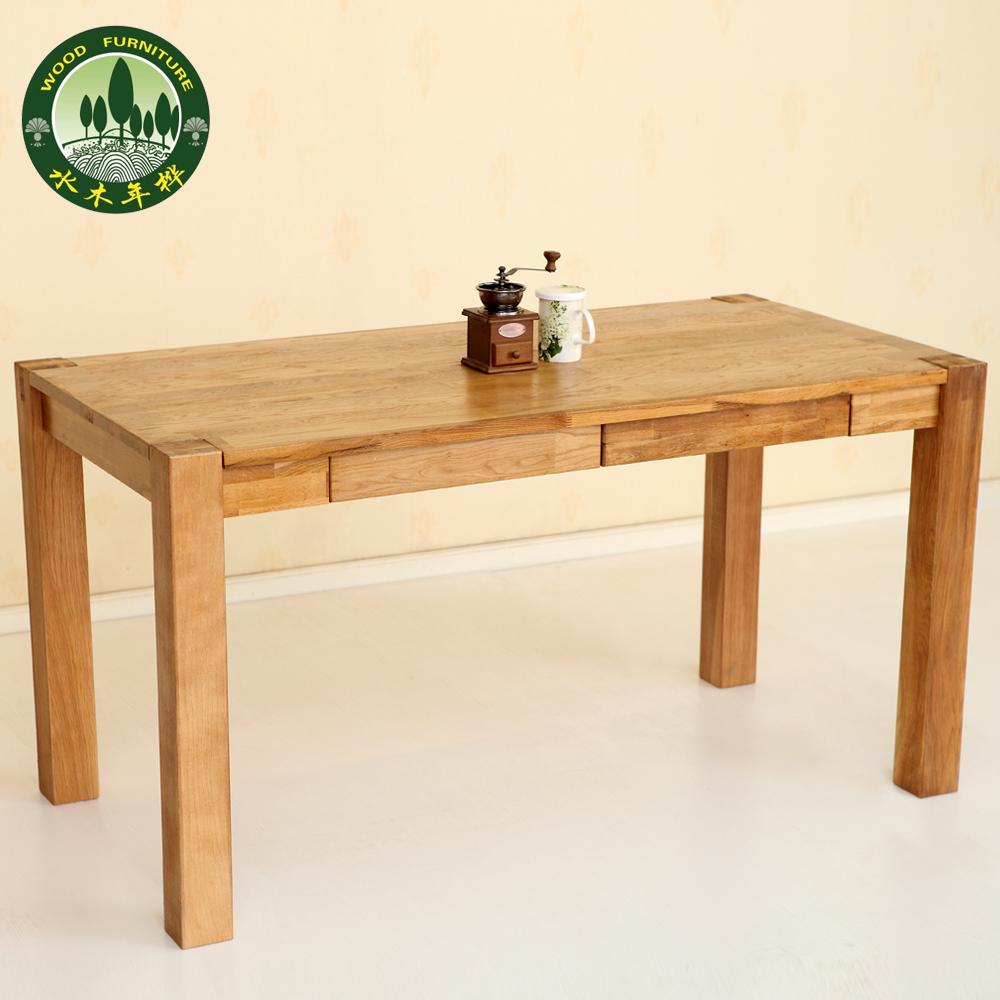Mizuki Birch Wood Dining Table In Oak Desk Minimalist
