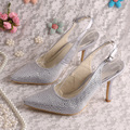 20 Colors Magic Bride Crystal Sexy High Heel Dress Shoes Bride Wedding Pumps Pointy Toe
