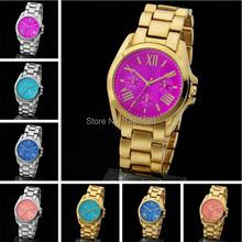 Venta caliente nueva moda Kors mujeres del reloj Luxury Brand aleación relojes de cuarzo digitales hombres mujeres hombres diamante calendario reloj 1MK2