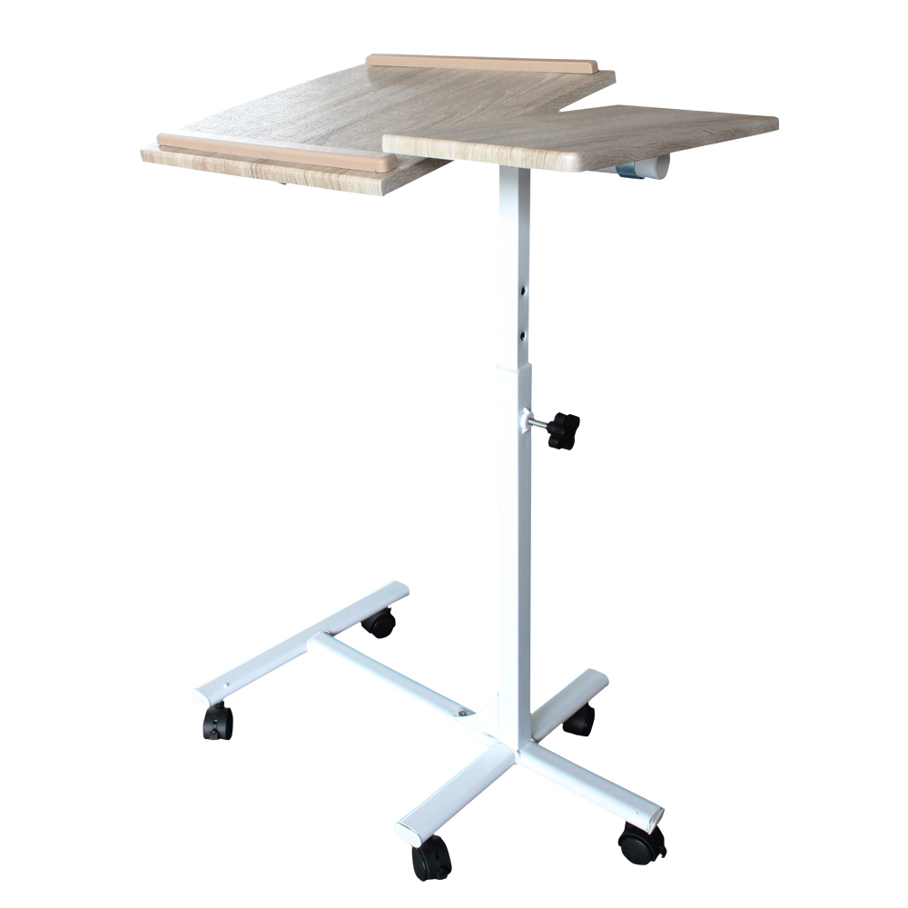 Angle Rolling Height Adjustable Laptop Desk Over Bed Hospital Table Tablet Stand for bedroom & living room(China (Mainland))
