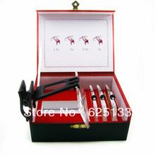 4 unids/set caja de regalo 1.5X / 2X / 2.5X / 3X / lentes lupa Clip on lente para apoyo gafas Hobbyhorse sida Vision 8510