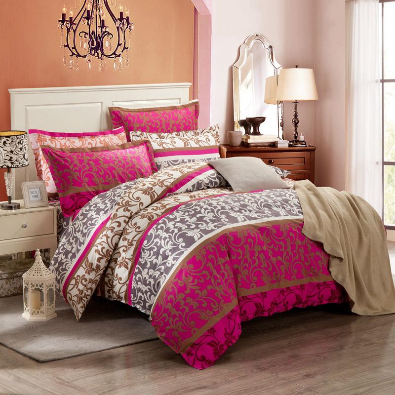 Reactive printing bedding set 100 cotton king size bed - King size bed sheet set ...