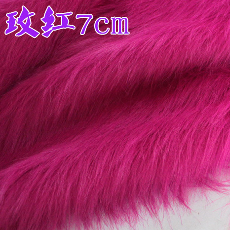 7cm half a meter price rose red plush fabric counter display Leather grass cloth fabric background fabric(China (Mainland))