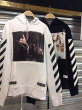 2015 New hip hop Pyrex C/O Virgil Abloh OFF WHITE Hoodies Religious Jesus Twill 13 print Men Cotton Hooded hoody sweatshirts(China (Mainland))