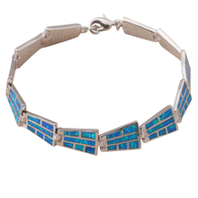 Vintage style Bracelets Wholesale & Retail Special Blue fire opal stamped silver fashion jewelry party gifts OB027A(China (Mainland))