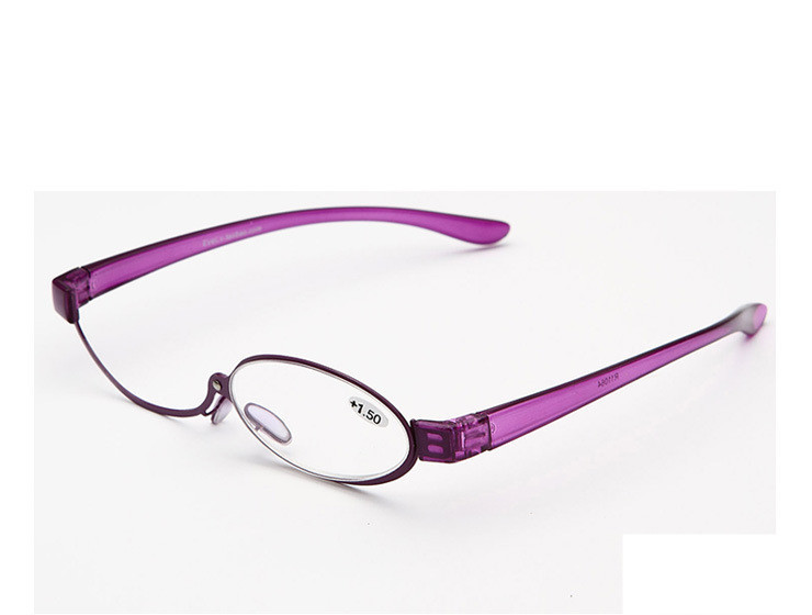 Super Quality Stainless Frame Purple Cosmetic Eye Glasses Women Make Up Glasses(China (Mainland))