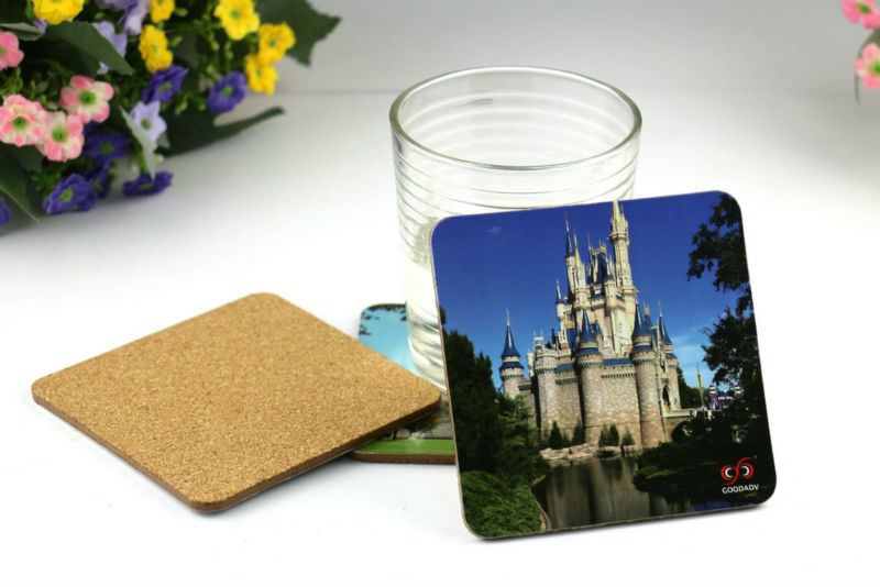 2015 Guangzhou goodadv factory direct mdf cup mats beautiful bottom cup coaster durable anti-heat drink cup mats(China (Mainland))