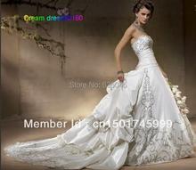 Vestido De Noiva New Custom Made Long Train Embroidery Elegant Luxury Wedding Dress Robe De Mariage