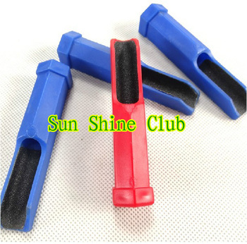 3pcs/lot New pool cue stick tip sander-shaper plastic channel with sandpaper rounder/billiard&snooker tips sander scuffers