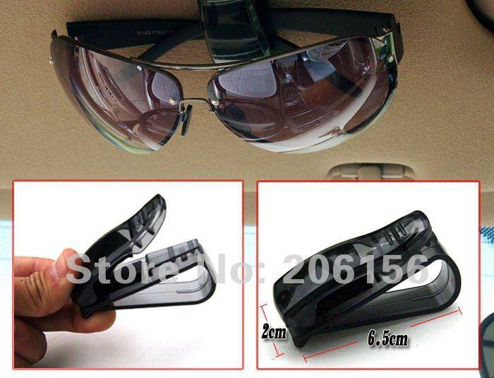 оптовые 50pcs козырек автомобиля солнцезащитные очки & авиабилет клип держатель