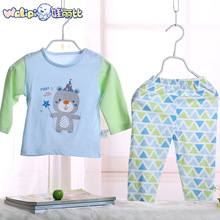 The 2016 Summer baby cotton underwear suit children thin cotton pajamas long sleeved clothes with air conditioning in infants(China (Mainland))