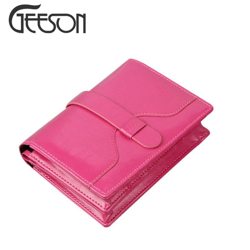 Business Women's Fashion Wallet Genuine Leather Ladies Short Hasp Clutch Purse England Style Mini Wallets Organizer Case MW284(China (Mainland))