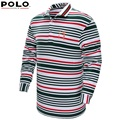 2017 Brand Polo golf polo shirt long sleeve Autumn sportwear striped golf clothing men with collar