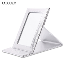 Docolor Brand Make up Mirror Black and Sliver Folding Cosmetics Makeup Mirror Portable Multi-used mirror with Leather Case(China (Mainland))