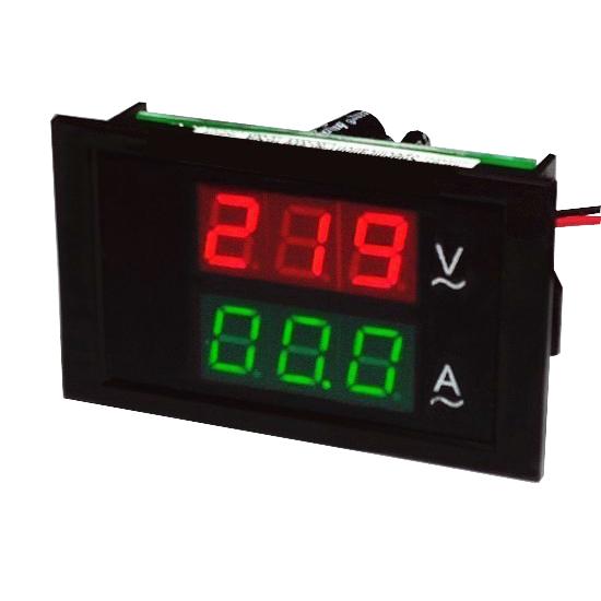 AC1A~100A split type precision transformer Double color double LED voltage ammeter head <br><br>Aliexpress