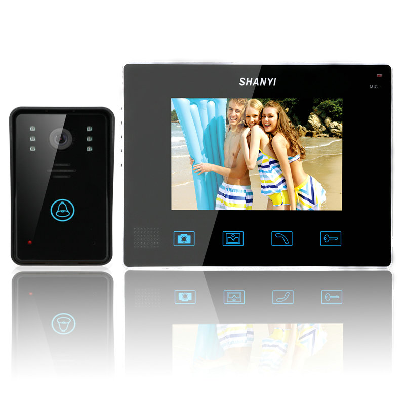 online kaufen gro handel wireless door phone video intercom aus china wireless door phone video. Black Bedroom Furniture Sets. Home Design Ideas
