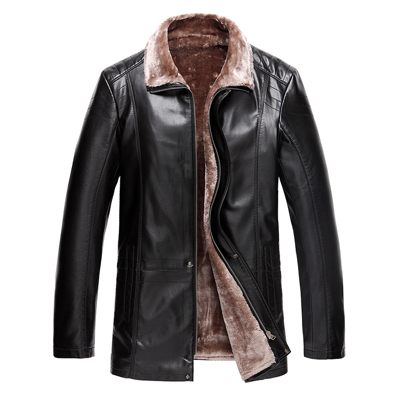 New Fashion Warm Winter men's sheepskin motorcycle jacket ...