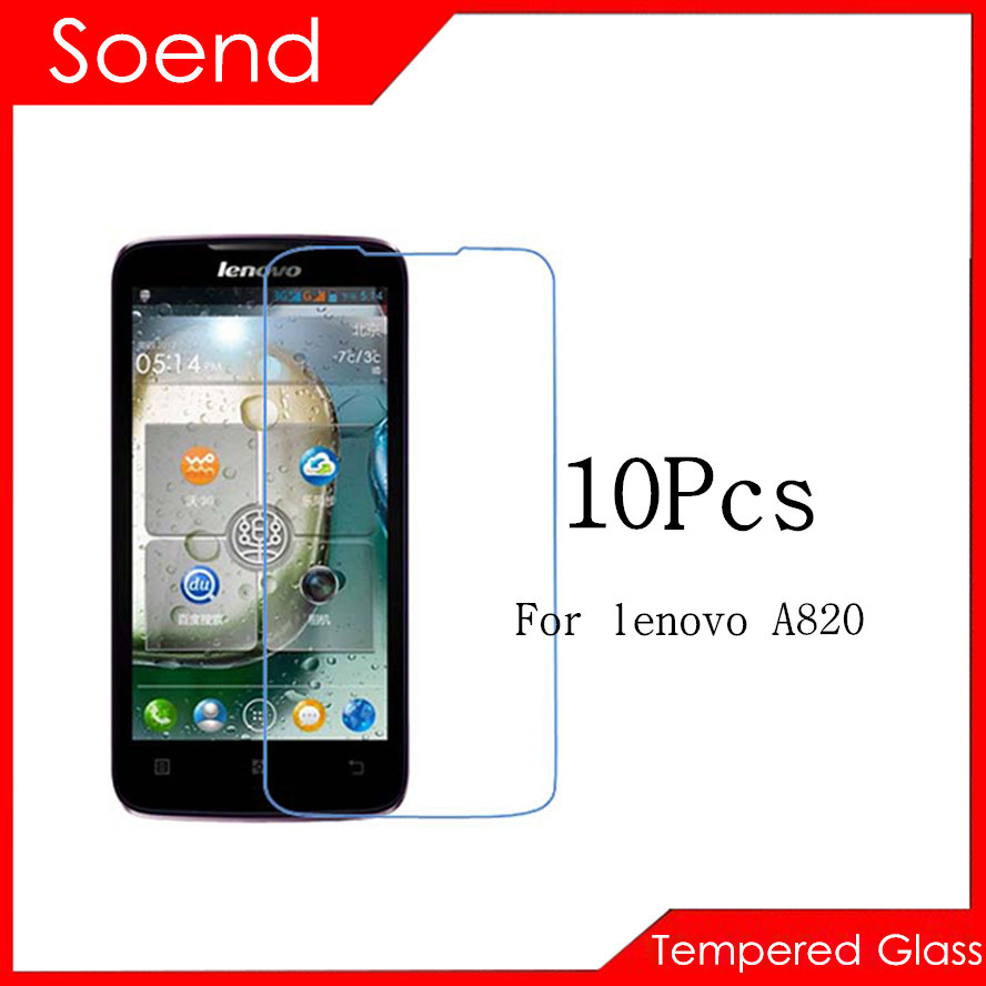 10Pcs/Lot Tempered Glass Screen Protector For Lenovo A820 A820T Protection Cover Protective Guard Film 2