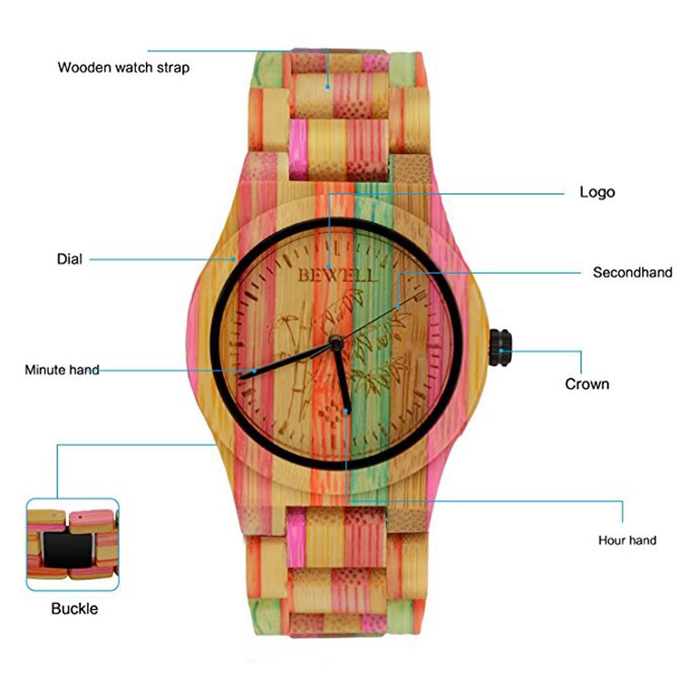 Горячее надувательство женщин Бамбук Деревянные Наручные Часы Природный Кварц Деревянный Бамбука Часы Ручной Часы Лучший Бренд Класса Люкс Деревянные Часы Мужчин