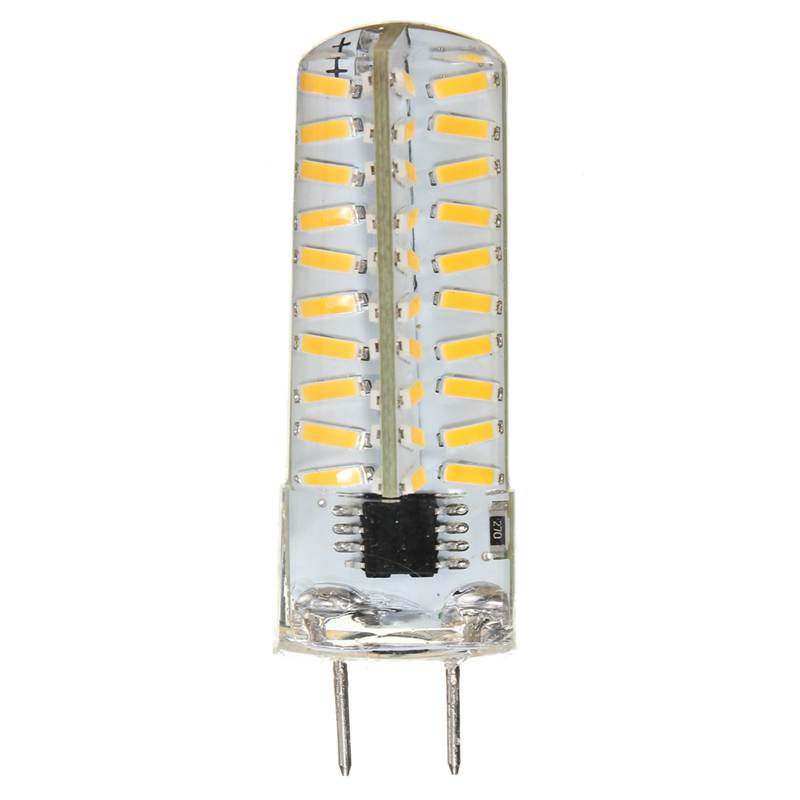 New Arrival G8 110V/220V 5W Energy Saving Dimmable 4014 SMD 80 LED Silicone Light Lamp Bulb Warm Pure White(China (Mainland))