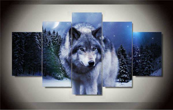 Framed Printed wolf in winter Group Painting children s room decor print poster picture canvas Free shipping F/1329 -34366-JBO