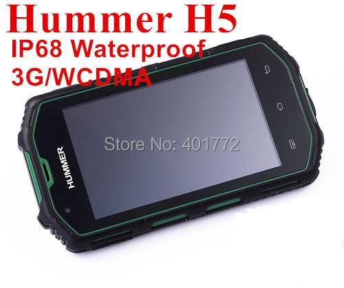 IP68 Waterproof Military Amy Samrt Phone Original Hummer H5 4'' IPS Android 4.2 Dual Core MTK6572A 3G Dual Card H1 Russian(China (Mainland))
