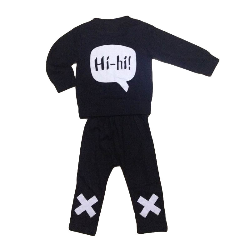 Retail 2016 summer style infant clothes baby clothing sets boy Cotton little monsters 2pcs baby boy clothes(China (Mainland))
