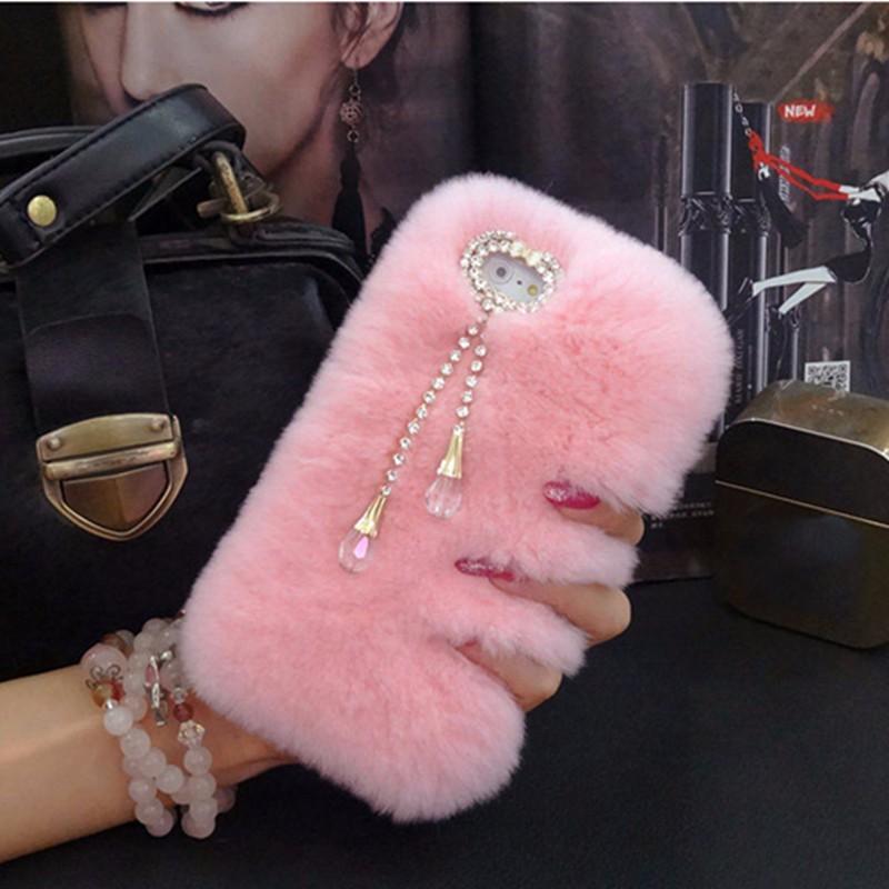 Ayeena Мех животных ry волос чехол для Samsung J3 J5 J7 2017 ЕС США a320 A520 A720 из мягкой Pink