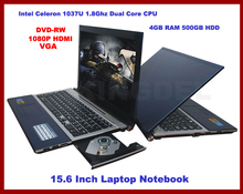 15.6″ Notebook, Laptop with Intel Atom D2700 Dual Core 2.13Ghz, 4GB DDR3 RAM, 500GB HDD, DVD-RW, WIFI, Webcam, 1080P HDMI