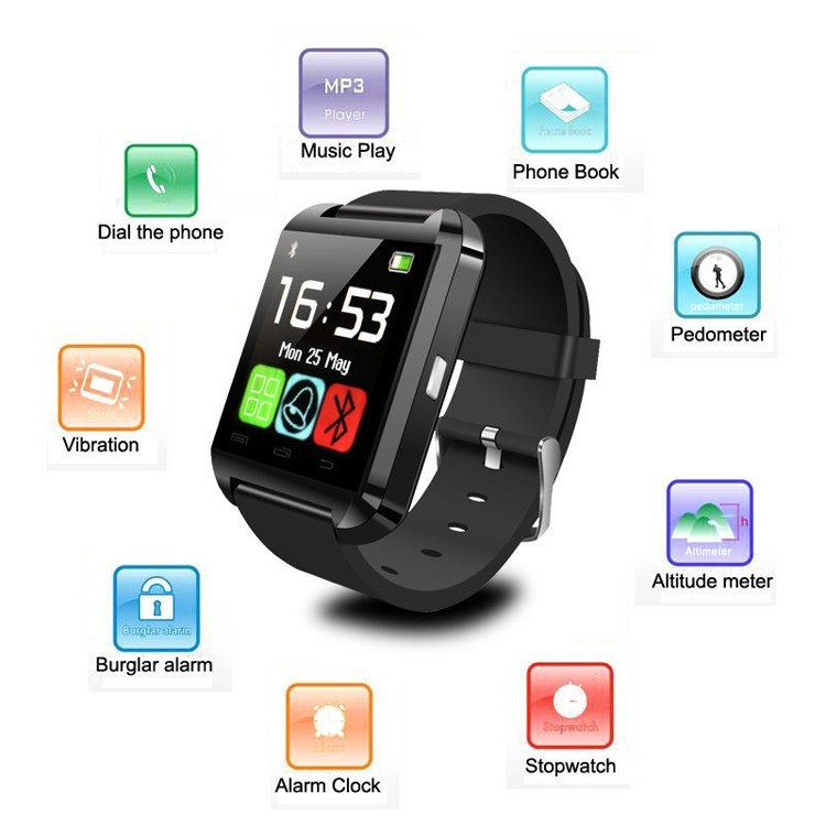 Cheap Smart Watch U8 Bluetooth Connect to iphone 6/6+ and Android Phone Samsung LG Huawei Xiaomi(China (Mainland))