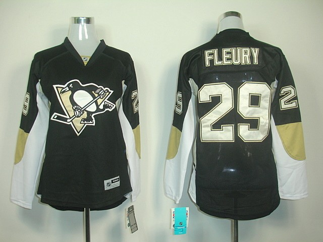 Гаджет  Women/Ladies Pittsburgh Penguins Jerseys 29 Marc-Andre Fleury Hockey Jerseys ICE Winter Stitched Free Shipping Size S,M, L,XL None Спорт и развлечения
