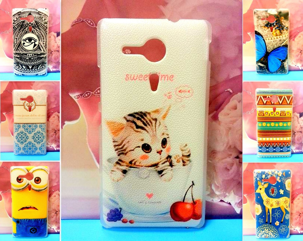 Colorful Painting Hard Phone Case Back Cover Shell Sony Xperia sp c5303 m35h C5302 C5303 - Hismart Co.,HK store