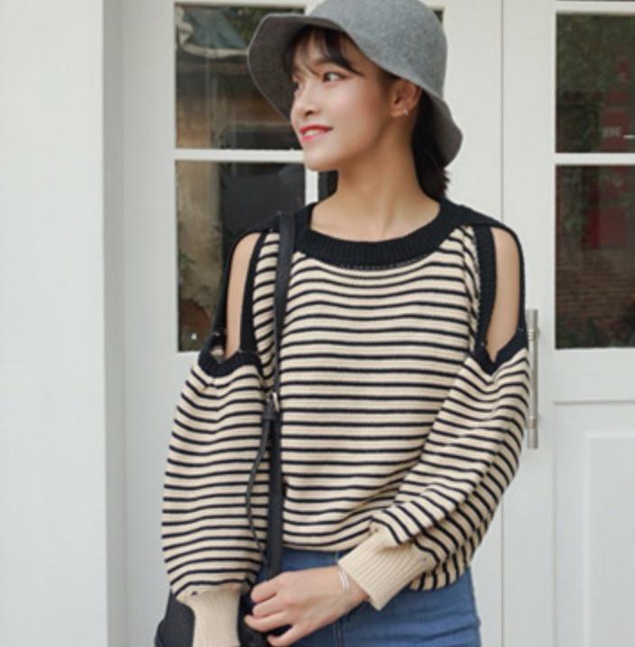 Полосатый свитер женский доставка