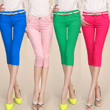 2016 summer thin candy color women's pant female bottoming casual female trousers(China (Mainland))