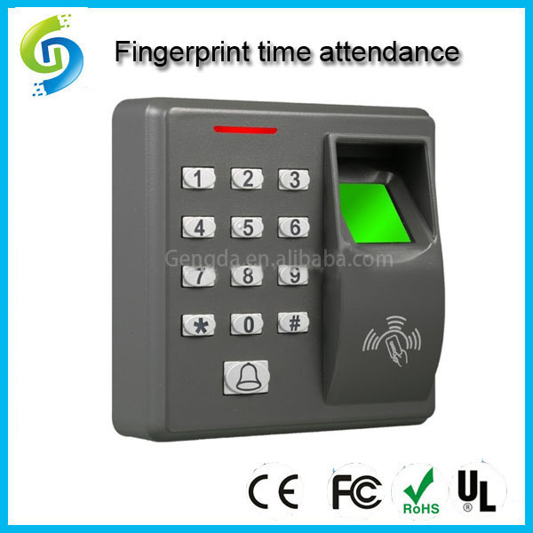 RFID card reader fingerprint time access control machine support 500 users(China (Mainland))