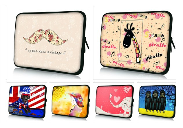 """Fashion Soft Neoprene Tablet PC Bags Painted Laptop Cover For 7""""10""""12""""13""""14""""15""""17"""" Notebook Pouch(China (Mainland))"""
