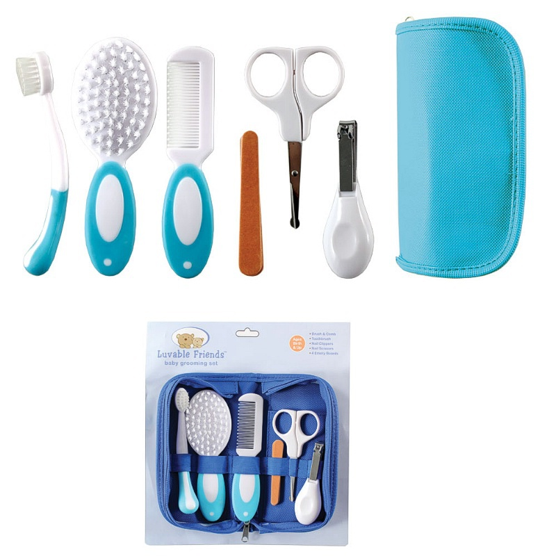 Baby Grooming Care Manicure Set Infant Toothbrush Hair Brush+Comb+ ...