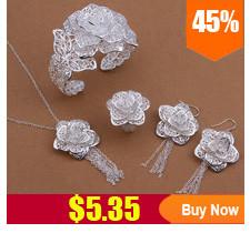 S444 925 כסף סטרלינג סט תכשיטי אופנה, תכשיטים, סט צמיד שרשרת עגיל טבעת /alzajdga bwnaknua
