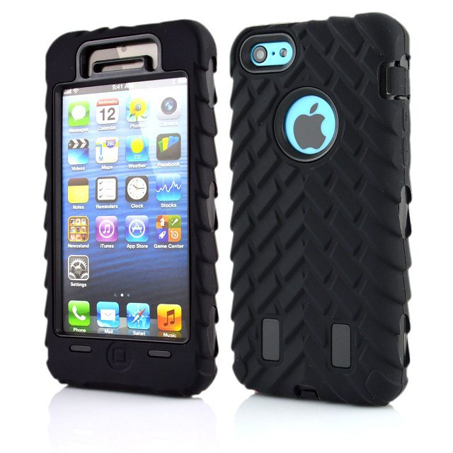 Apple iPhone 5C New Tyre Pattern 3 1Hard Plastic PC + Soft Silicone Hybrid Case Robot Cover Shockproof Dustproof - Shenzhen GenaTX Technology Co., LTD store