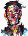 Face Oil Painting Palette knife man painting Hand Painted Pop Art Modern Abstract Paintings For Home