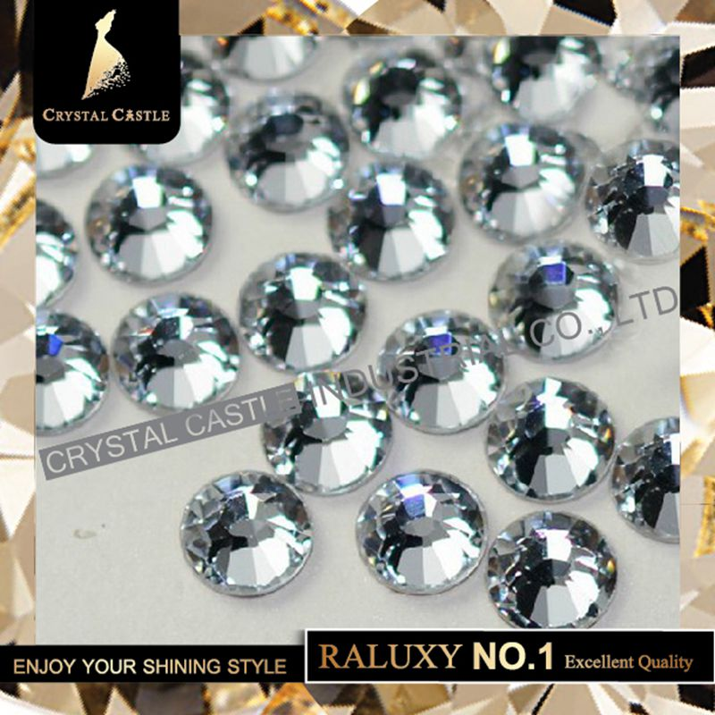 Super Grade AAAAA Luxury SS10 2.7-2.9mm Crystal Flatback No Swarovski Hotfix Strass Nail Art Rhinestones Hot Fix For Women Shoes(China (Mainland))
