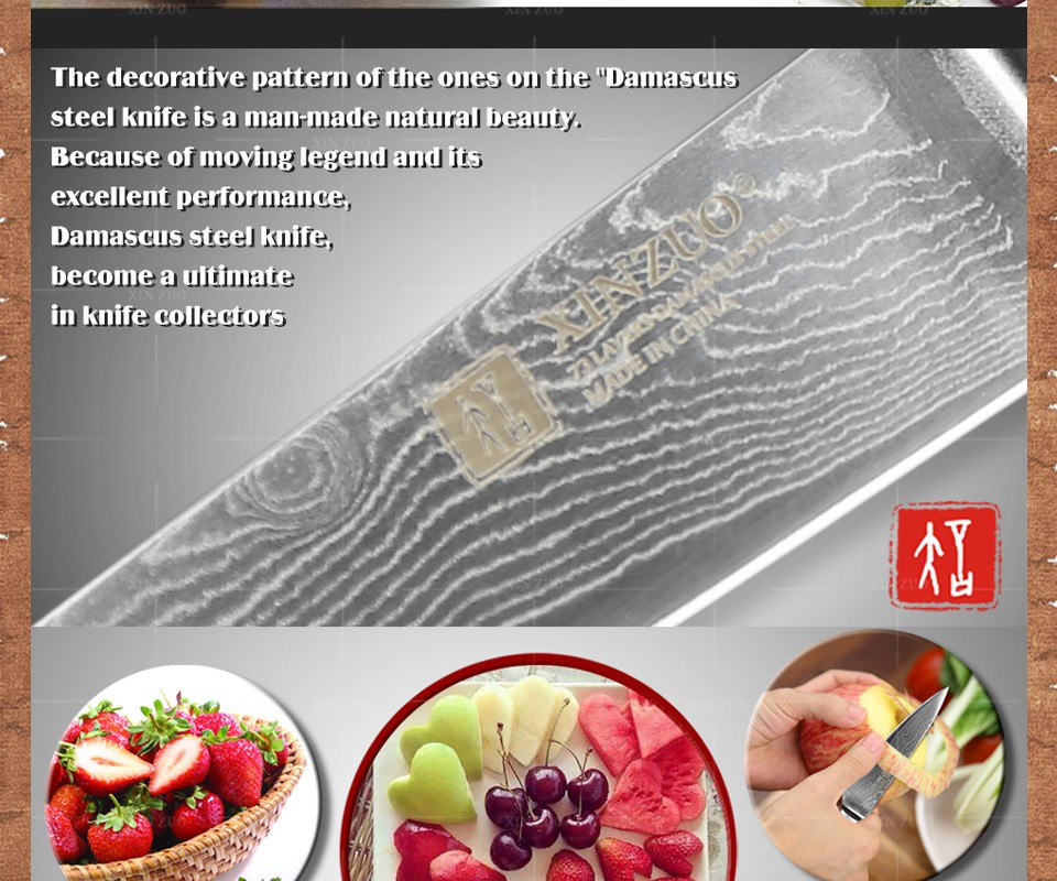"Buy XINZUO 3.5"" inch fruit knife Damascus steel kitchen knives High Quality  paring knife senior kitchen tools FREE SHIPPING cheap"