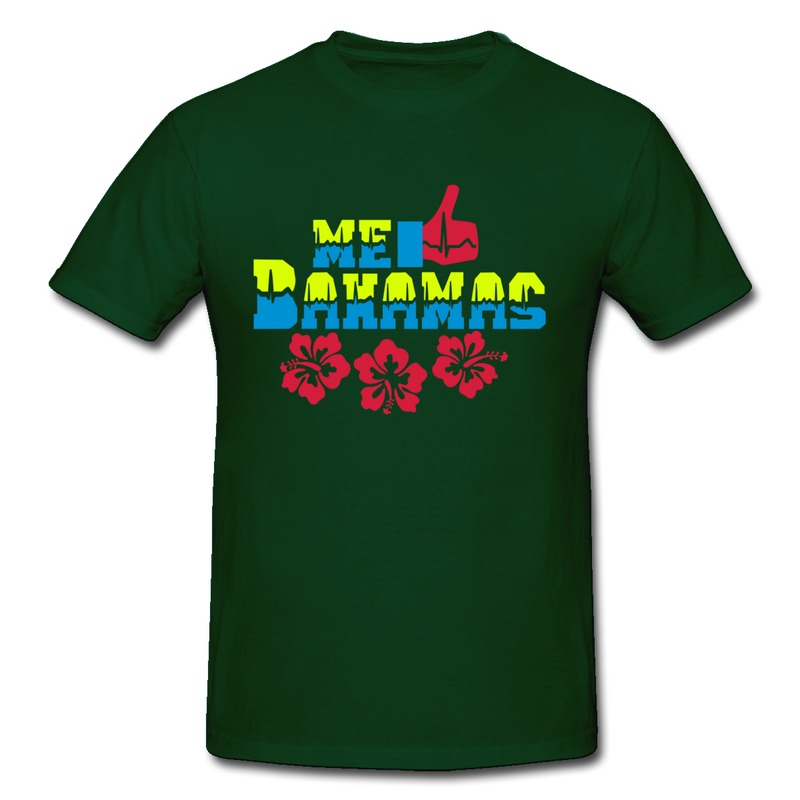New arrival casual teeshirt mans me gusta bahamas hibiscus for T shirts with your own logo
