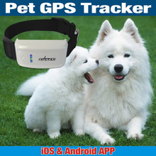 Mini GPS Tracker With Collar GSM/GPRS Positioning Real Time Waterproof  GPS Tracker Dog Pet Via Website & iOS & Android App(China (Mainland))