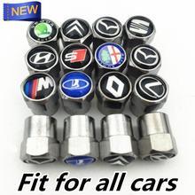 Universal Car Tire valve cap automobile repacking for Skoda Seat Hyundai Bmw AUDI Toyata Lada Renault accessories car styling(China (Mainland))