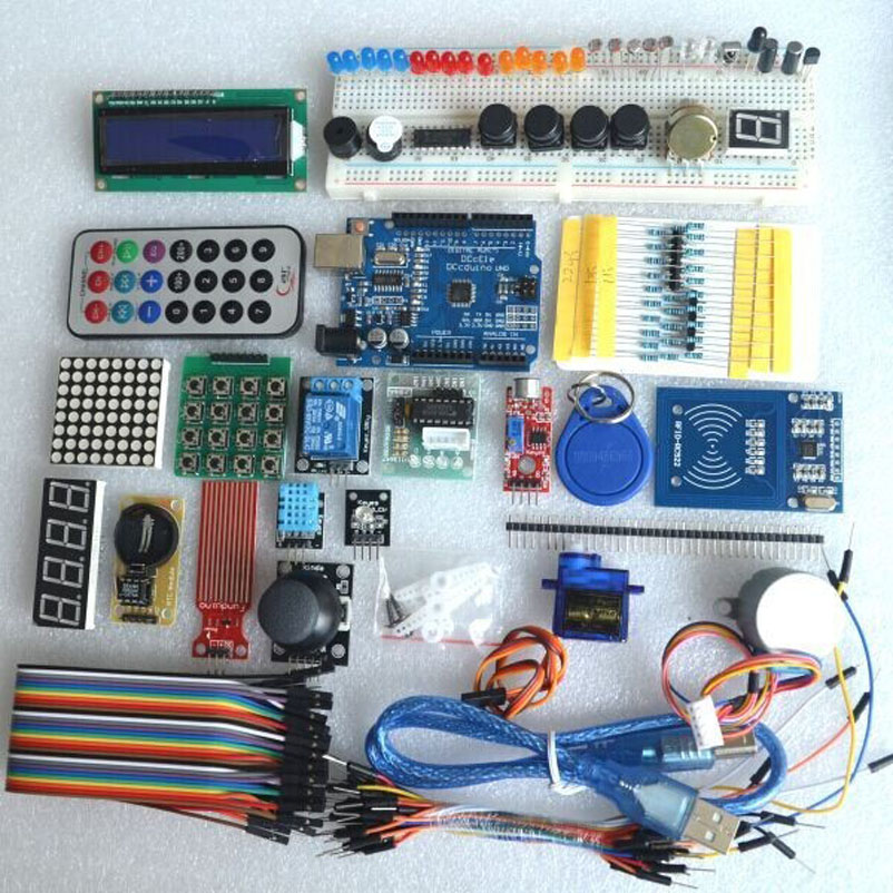 UNO R3 KIT Upgraded version of the Starter Kit the RFID learn Suite LCD 1602 for audrino kit<br><br>Aliexpress