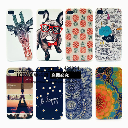 Fashion Animal Cartoon Case For iPhone 4 4S Phone Hard Cases Cover Coque Fundas For iPhone 4s Capa for iphone4 Carcasa Capinha(China (Mainland))