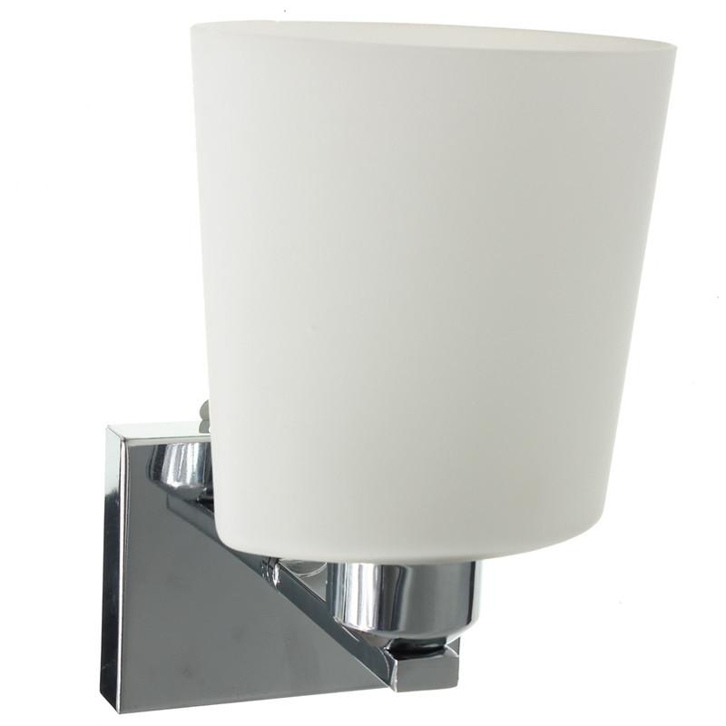 Lowest Price E14 Modern Glass Shape Chrome Lamp Sconce Lighting Corridor Living Room Wall Light Fitting 111-240V<br><br>Aliexpress