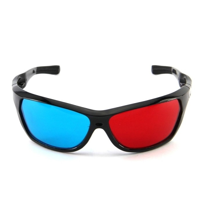Newest!! Wonderful Sunglasses-Shaped Red Blue Lens Anaglyph Circularly 3 Dimensional 3D Glasses for 3D Games DVD Movies Video TV(China (Mainland))