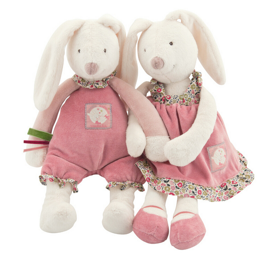 Baby Play Soft Plush Toys High Quality Lovely Rabbit Appease Doll Baby Dolls Hold Muppet Toys 32cm(China (Mainland))